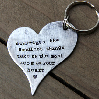 The Smallest Things Keychain