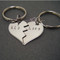 His Hers Broken Heart Keychains