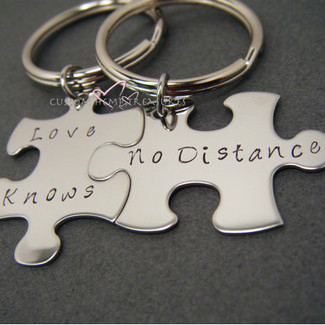 Love Knows No Distance Keychain
