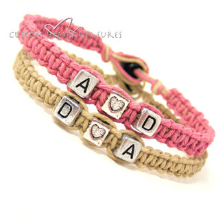 Initials Bracelets with Hearts