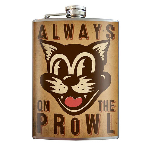 On the Prowl Flask - 8 oz. stainless steel