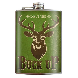 Buck Up Flask - 8 oz. stainless steel