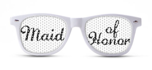 Maid of Honor Script Wedding Sunglasses