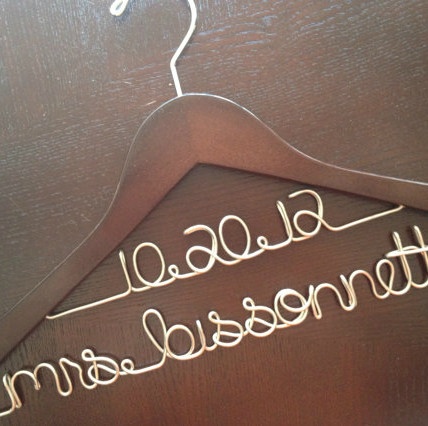 Bridal Gown Hanger and Wedding Date