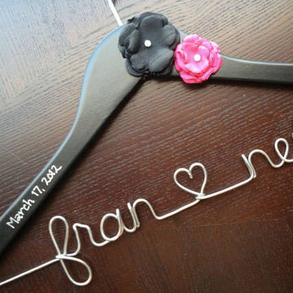 Wedding Hanger with Inscribed Wedding date