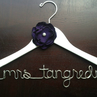 Wedding Hanger with Handmade Flower