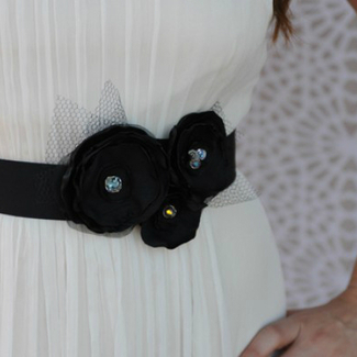 Black Bridal Sash