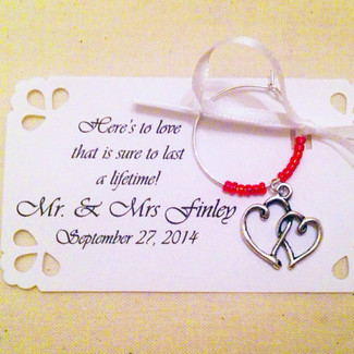 Two Hearts Charm Wedding Favors