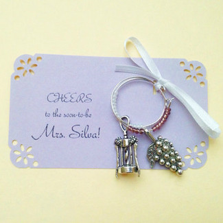 Two Charm Set Wine Favors