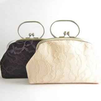 Lace Wedding Clutch Purse