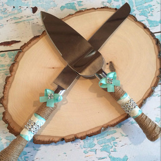 Burlap Cake Cutting Set