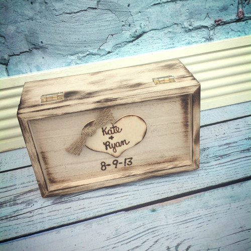 Rustic Wedding Ring Box