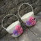 Chiffon Puff Flower Girl Baskets