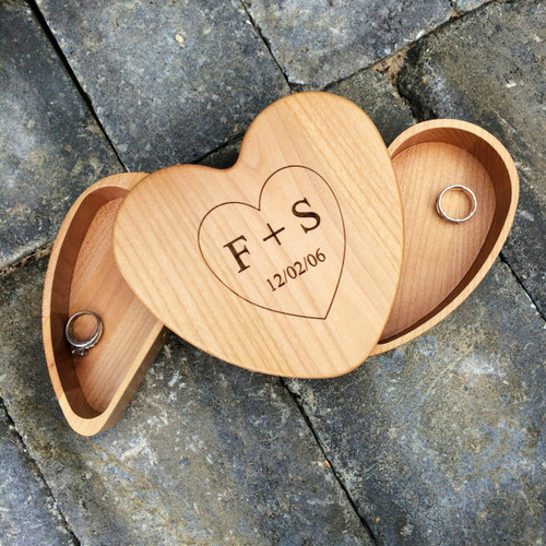 Heart Keepsake Ring Box