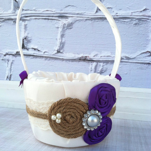 Custom Flower Girl Basket