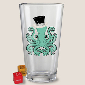 Gentleman Octopus Pint Glass