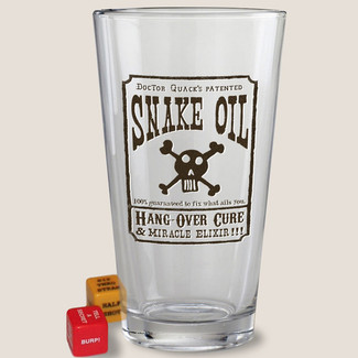 Snake Oil Pint Glass