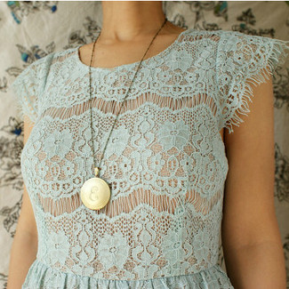 Vintage Locket Initial Necklace - Limited Edition