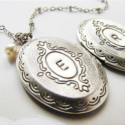 Initial Locket Necklace
