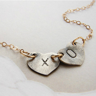 XO Kiss Hugs Necklace