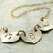 Personalized Three Heart Initial Necklace