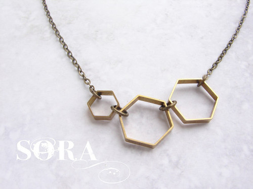 Vintage Honeycomb Necklace