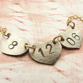 Personalized Wedding Date Necklace
