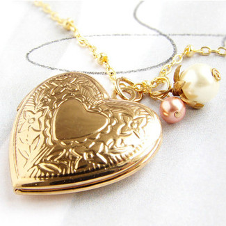 Bridal Heart Locket Necklace