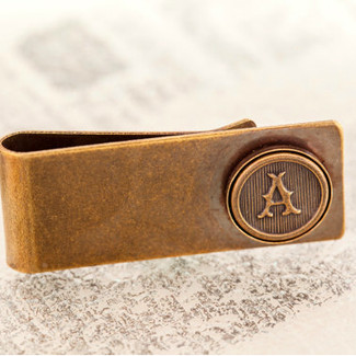 Antiqued Brass Money Clip