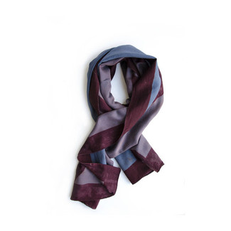 Indigo Blue Burgundy Red Scarf Wrap
