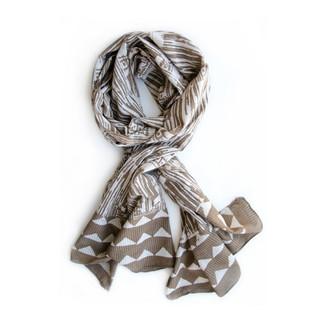 Beige Neutral Tan Pillar Scarf