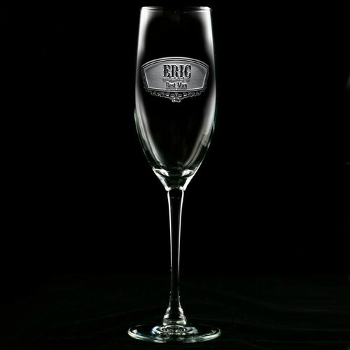 Best Man Champagne Glasses