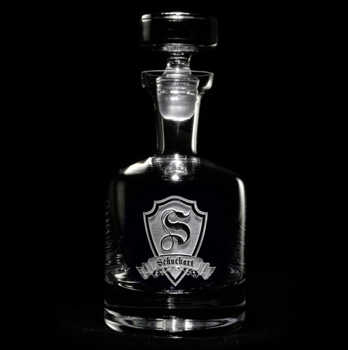 Family Crest Whiskey Decanter