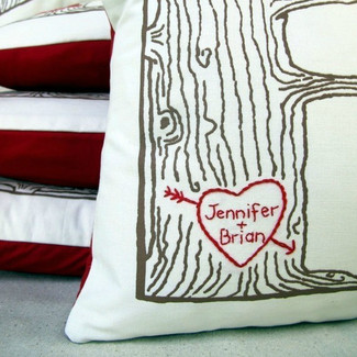 Custom Heart - Tree Print Pillow Cover