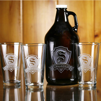 Growler and Pint Glass Set