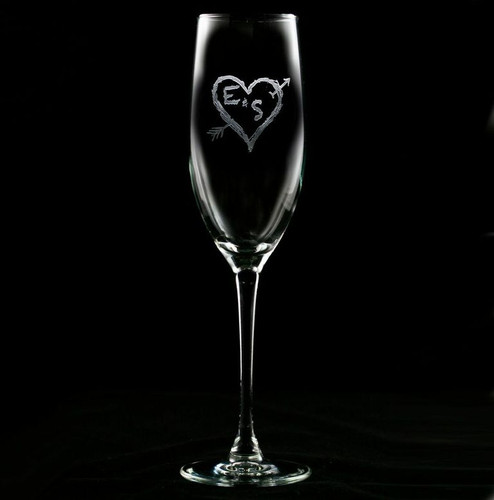Heart & Arrow Champagne Glasses