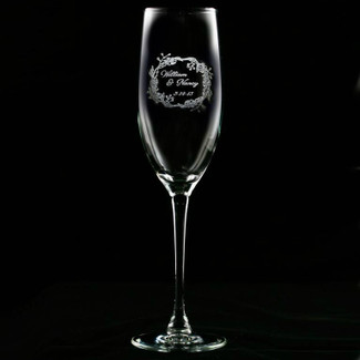 Wedding Couple Engraved Champagne Flute - Set of 2
