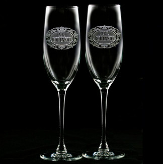 Mr. & Mrs. Champagne Flutes - Set of 2