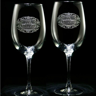Mr. & Mrs. Wine Glasses - Set of 2