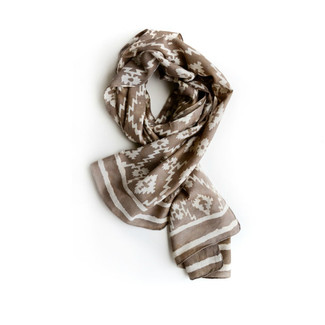 Taupe Tribal Aztec Scarf