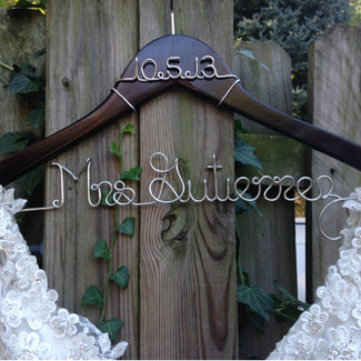 Bridal Dress Hanger w/ Date