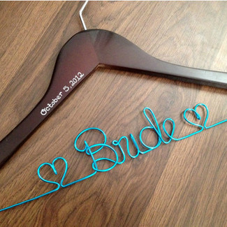 Wedding Dress Hanger w/ Date