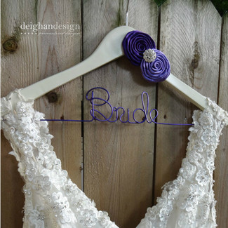 Bridal Dress Hanger w/ Satin Rosettes