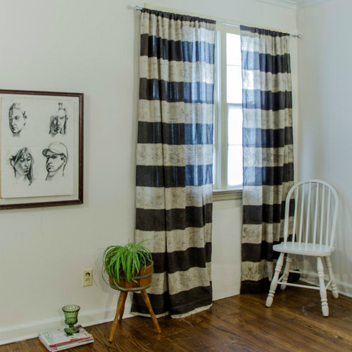 Erica Chocolate Brown Window Curtains