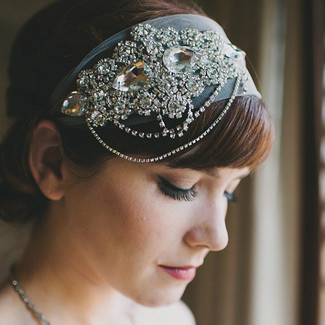 Art Deco Tulle Bridal Headband