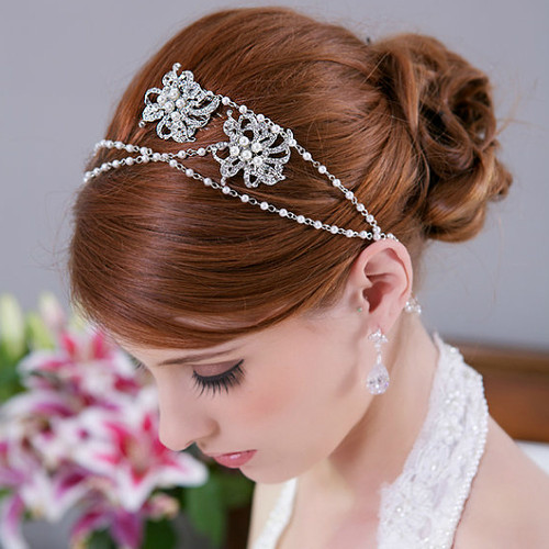 Crystal Chain Bridal Wrap Headband