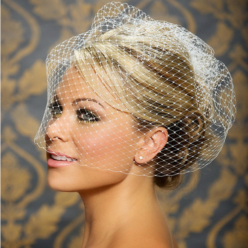 Large Full Bridal Veil in Russian Netting
