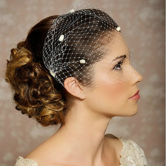 Ivory Dotted Birdcage Veil