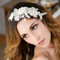 Gold and Ivory Bridal Headpiece