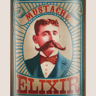 Mustache Elixir Flask - 8 oz. stainless steel
